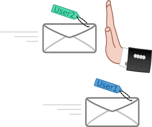 Permanently reject a specific email sender address using